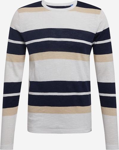 Pullover JACK & JONES di colore beige chiaro / blu notte / grigio, Visualizzazione prodotti