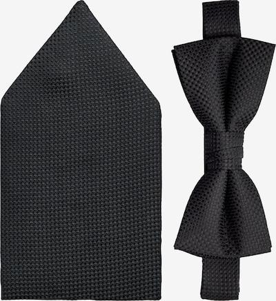 Jack & Jones Junior Fliege und Taschentuch in schwarz, Produktansicht