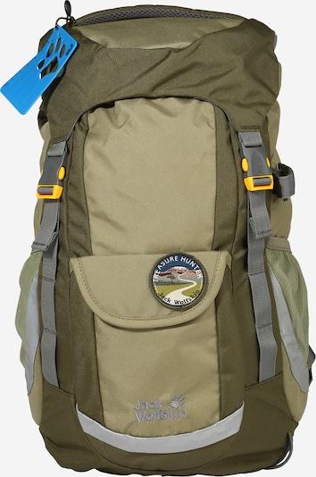 JACK WOLFSKIN Sportrucksack 'EXPLORER 20' in gelb / grau / hellgrau / khaki / oliv, Produktansicht