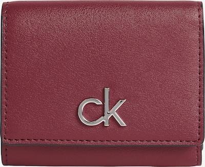 Calvin Klein Porte-monnaies en bordeaux / argent, Vue avec produit