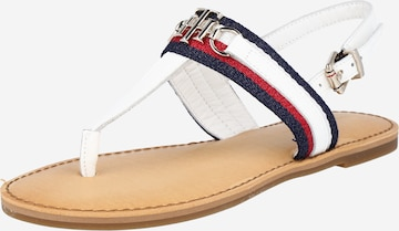 TOMMY HILFIGER T-Bar Sandals in White
