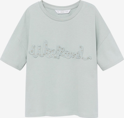 MANGO KIDS T-Shirt 'WEEKEND' in pastellgrün, Produktansicht