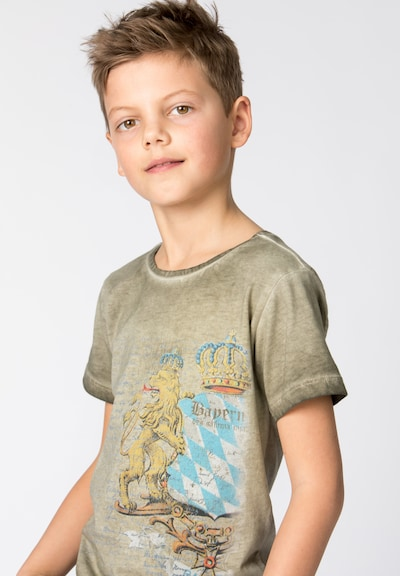STOCKERPOINT Shirt Bene Jr. in beige: Frontalansicht