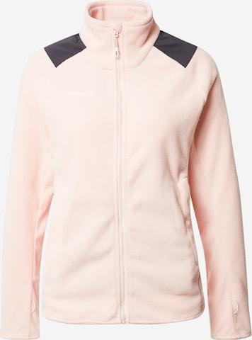 Jachetă  fleece funcțională 'Innominata' de la MAMMUT pe roz