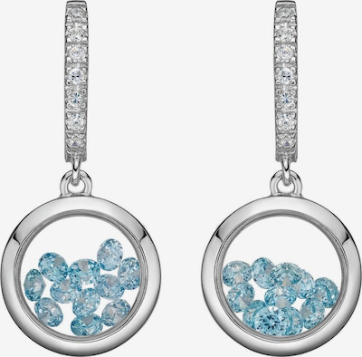 Astra Oorbellen in de kleur Zilver, Productweergave