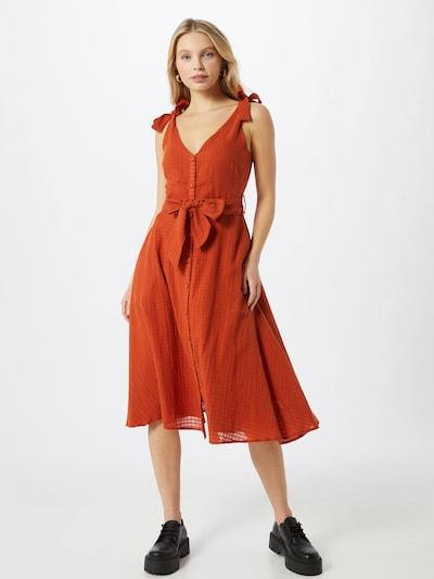 Rochie FRNCH PARIS pe roșu orange, Vizualizare model