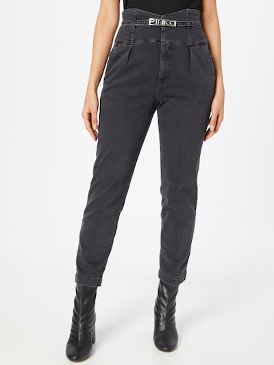 PINKO Pleated Jeans 'ARIEL' in Grey denim, View model