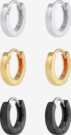 KUZZOI Oorbel in de kleur Goud / Zwart / Zilver, Productweergave