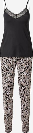 Pijama ESPRIT pe bej / negru / alb, Vizualizare produs