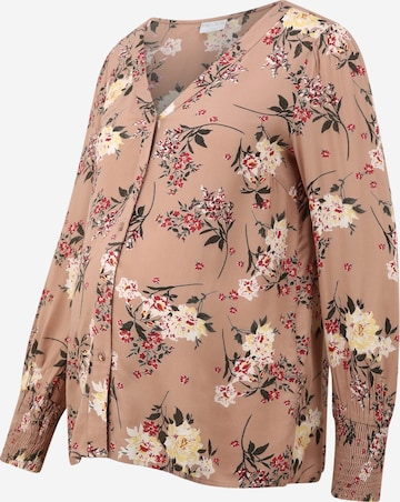 Pieces Maternity Bluse 'Paola' in Beige