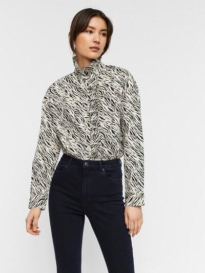 Vero Moda Aware Bluse 'Rylee Katie' in beige / schwarz / weiß, Modelansicht