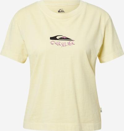 QUIKSILVER T-shirt en jaune clair / rose / noir, Vue avec produit