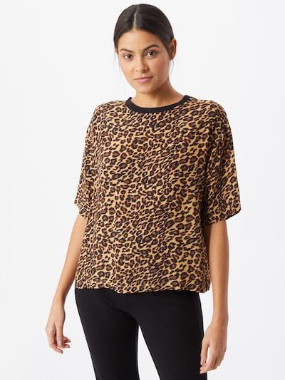 Bizance Paris Shirt 'Claudine' in braun / schwarz: Frontalansicht