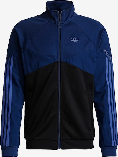 ADIDAS ORIGINALS Sweatjacke in taubenblau / dunkelblau / schwarz, Produktansicht