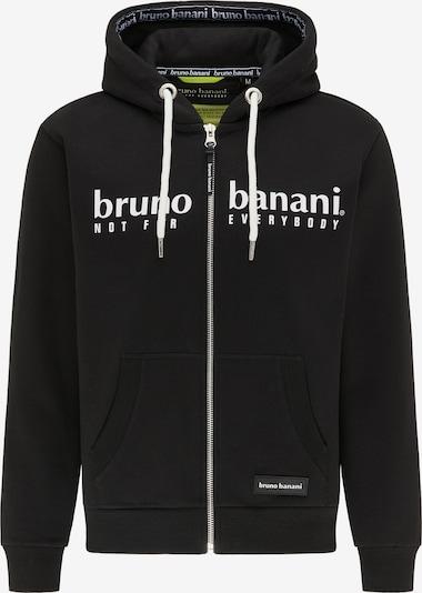 BRUNO BANANI Sweatjacke in schwarz / weiß, Produktansicht