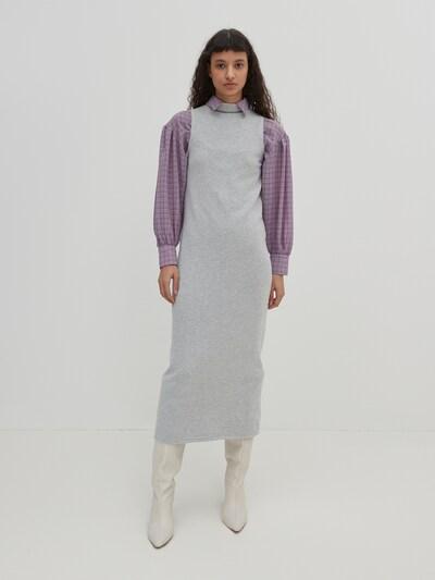 EDITED Kleid 'Alisha' in graumeliert, Modelansicht