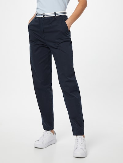 TOMMY HILFIGER Chino trousers in Turquoise / Dark blue / White, View model