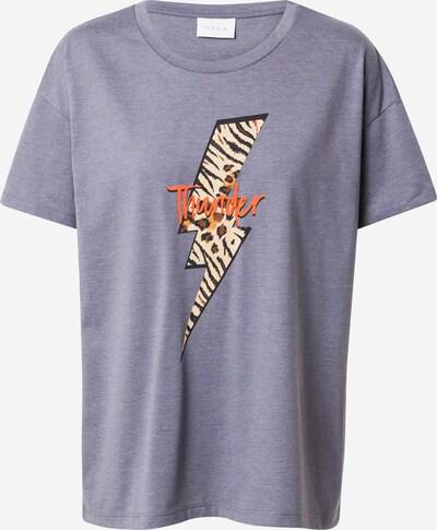 VILA Majica 'JAMILLA' u sivkasto bež / smeđa / siva melange / tamno narančasta / crna, Pregled proizvoda