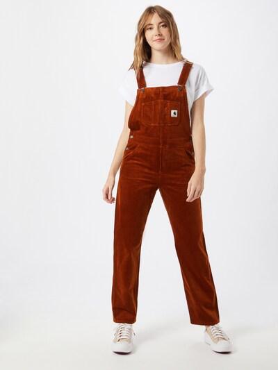 narancsvörös Carhartt WIP Kantáros nadrágok, Modell nézet