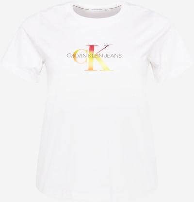 Tricou Calvin Klein Jeans Curve pe galben / portocaliu / roșu / alb, Vizualizare produs