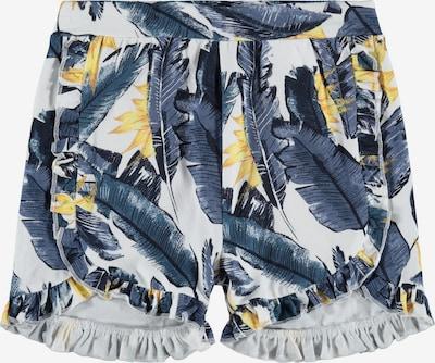 NAME IT Pantalon 'Fibloom' en bleu-gris / orange clair / noir / blanc: Vue de face