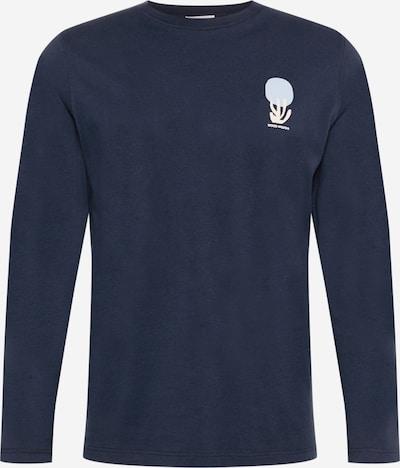 WOOD WOOD Shirt 'Peter' in navy / nachtblau / hellblau / weiß, Produktansicht