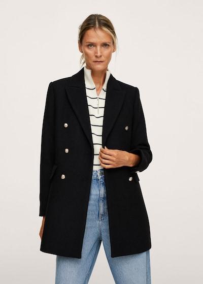 MANGO Between-Seasons Coat in Black, View model