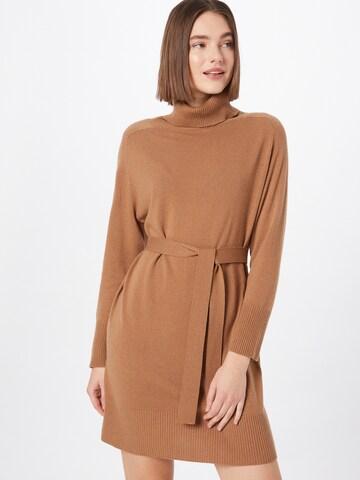 Marella Gebreide jurk 'FUCSIA' in Bruin