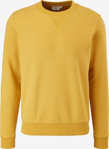 s.Oliver Sweatshirt in Gelb