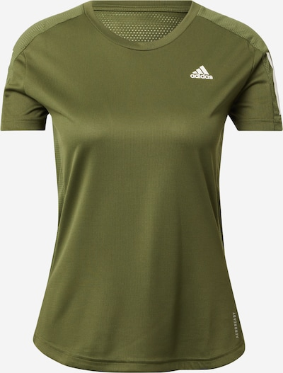 ADIDAS PERFORMANCE T-shirt fonctionnel 'Own the Run' en olive, Vue avec produit
