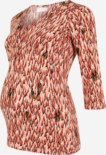 MAMALICIOUS Shirt in de kleur Beige / Rood / Wit, Productweergave