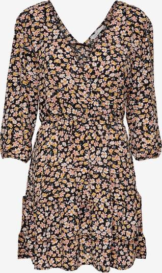ONLY Kleid in goldgelb / rosa / schwarz / weiß, Produktansicht