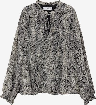 MANGO Bluse 'Pliti' in grau / schwarz, Produktansicht