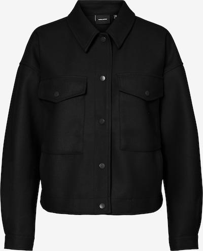 VERO MODA Övergångsjacka 'Fortunelippa' i svart: Sedd framifrån