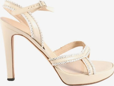 Gianni Versace Plateau-Sandaletten in 40 in creme, Produktansicht
