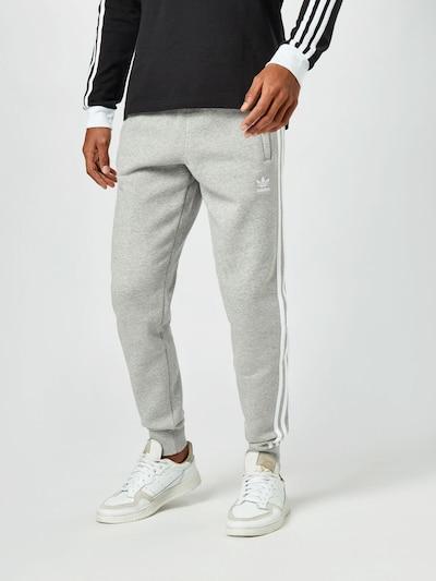 ADIDAS ORIGINALS Kalhoty - šedý melír / bílá, Model/ka