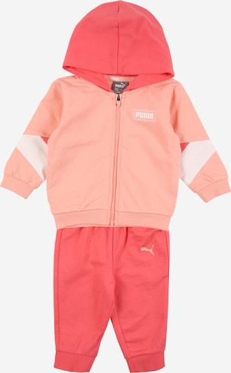 PUMA Jogginganzug 'Minicats' in apricot / koralle / weiß, Produktansicht