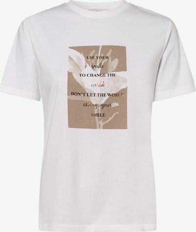 apriori T-Shirt in braun / weiß, Produktansicht