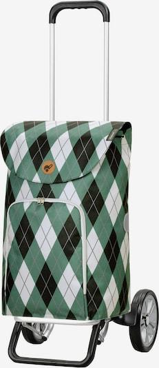 Andersen Shopper Einkaufstrolley 'Arik' in grün / schwarz / weiß, Produktansicht