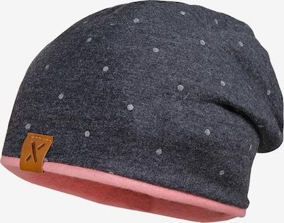 MAXIMO Bonnet en cognac / gris chiné / rosé, Vue avec produit