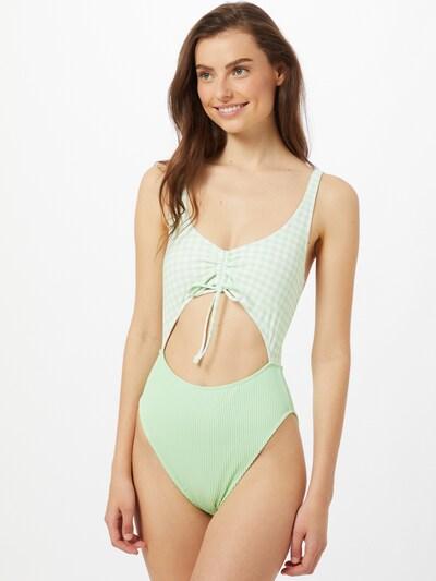 Costum de baie întreg 'JAN' HOLLISTER pe verde mentă / alb, Vizualizare model