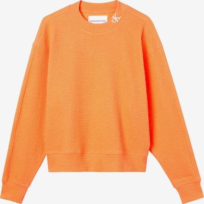 Calvin Klein Jeans Sweat-shirt en orange, Vue avec produit