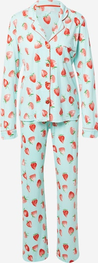 PJ Salvage Pyjama ' Strawberry Dreams ' mit Schlafmaske in mint / rot, Produktansicht