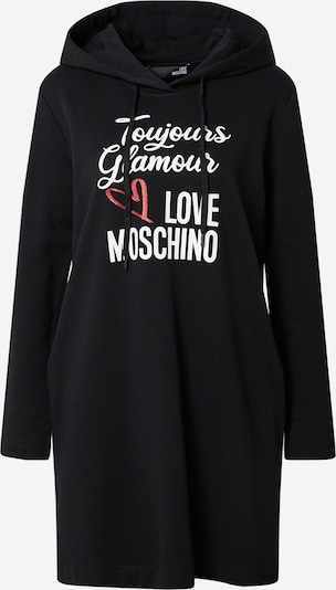 Love Moschino Kleid in melone / schwarz / weiß, Produktansicht