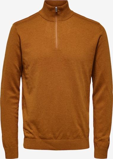SELECTED HOMME Pullover 'Berg' in karamell, Produktansicht