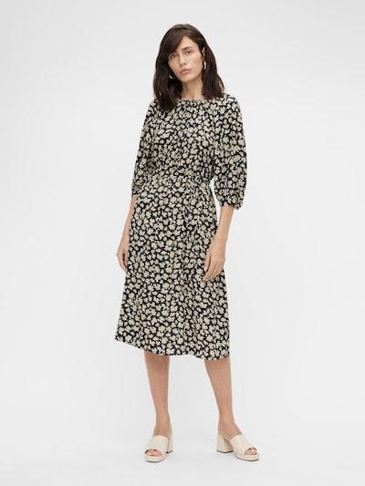 OBJECT Kleid 'OBJANMIRA' in beige / dunkelblau / oliv / rosa, Modelansicht