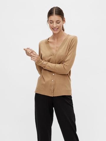 VILA Плетена жилетка 'Jeneve' в кафяво