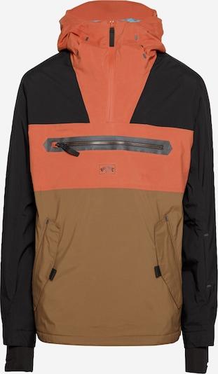 BILLABONG Sport-Jacke 'QUEST' in hellbraun / dunkelorange / schwarz, Produktansicht