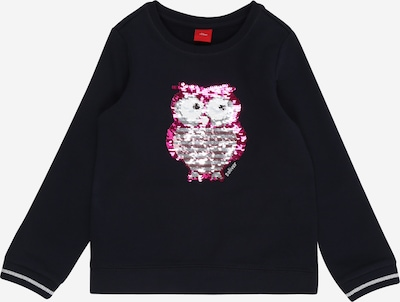 s.Oliver Sweatshirt in dunkelblau / pink, Produktansicht