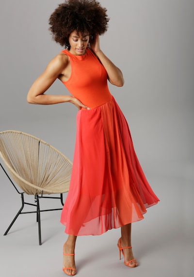 Aniston SELECTED Sommerkleid in orange / rot, Modelansicht